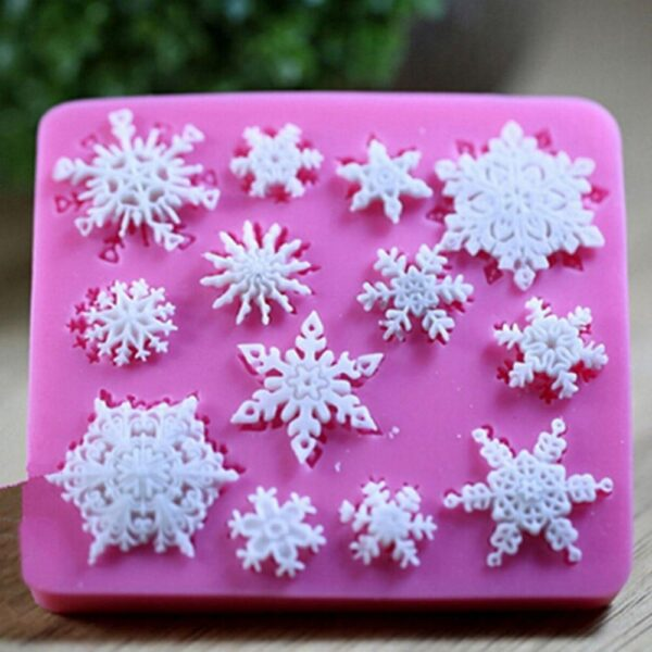 Diy Baking Tools 9 5 8 5cm Snowflake Silicone Mold Chocolate Ice Cube Mold Snowflake Biscuit